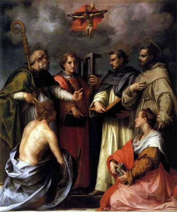 Описание картины «Спор о Троице (Диспута)» — Андреа дель ...