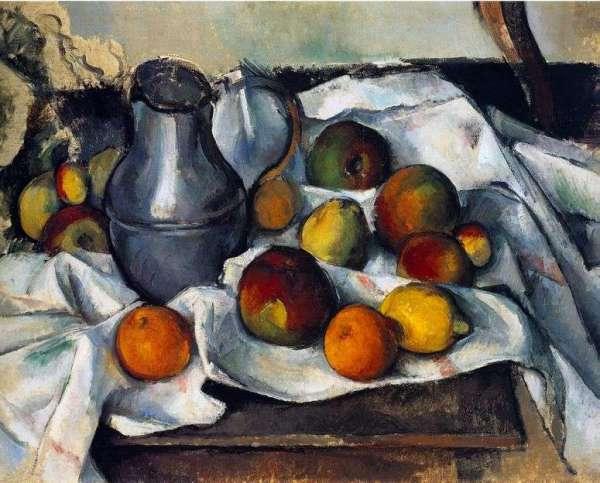 Описание картины «Кувшин и фрукты» — Поль СезаннШедевры ...
