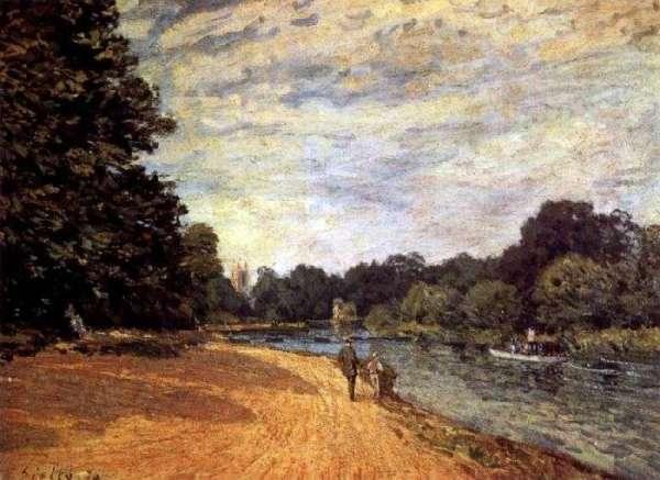 Описание картины «Темза близ Хэмптон-Корта» — Альфред ...