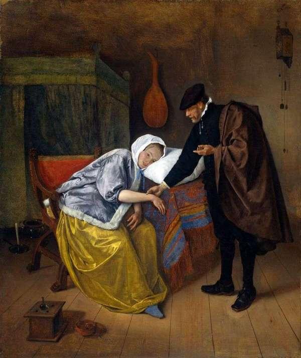Описание картины «Доктор и пациентка» — Ян СтенШедевры ...