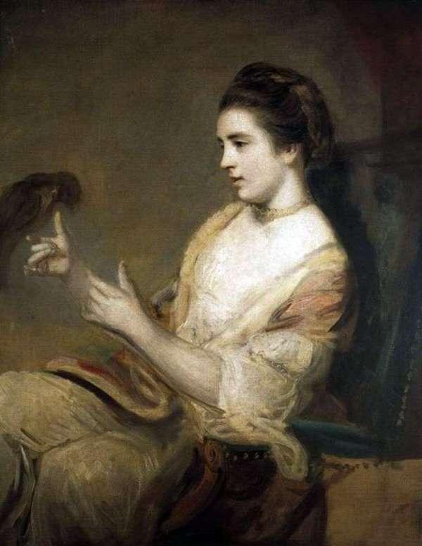Описание картины «Китти Фишер с попугаем» — Рейнольдс ...