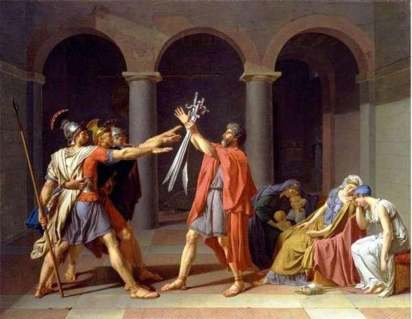 Описание картины «Клятва Горациев» — Жак Луи ДавидШедевры ...