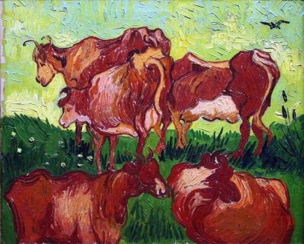 Описание картины «Коровы (после Йорданса)» — Винсент Ван ...