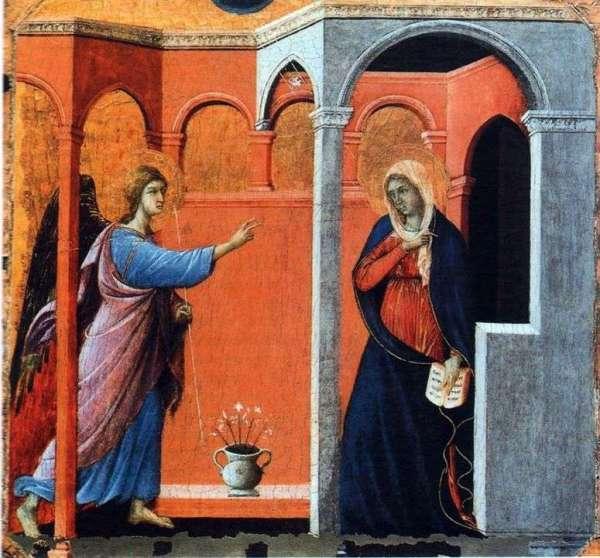 Описание картины «Маэста. Благовещение» — Дуччо-ди ...