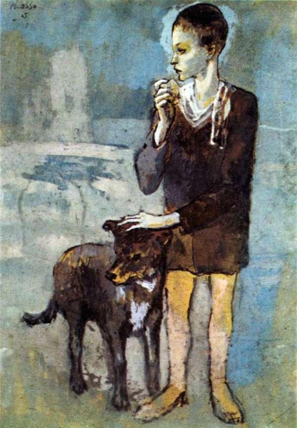 Описание картины «Мальчик с собакой» — Пабло ...