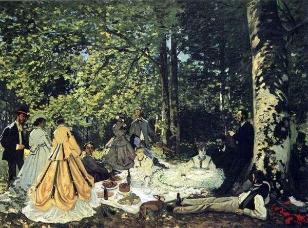 Описание картины «Пикник на траве, Шайи» — Клод ...