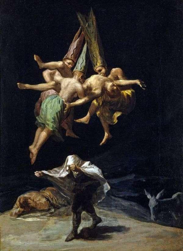 Описание картины «Полет ведьм» — Франсиско де ГойяШедевры ...