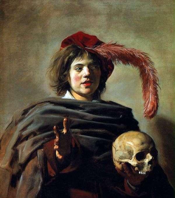 Описание картины «Портрет молодого человека с черепом ...