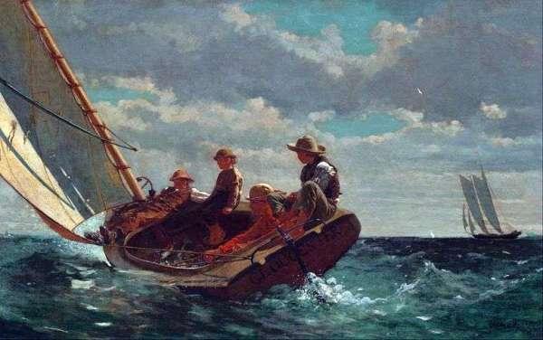Описание картины «Порыв ветра» — Уинслоу ХомерШедевры ...