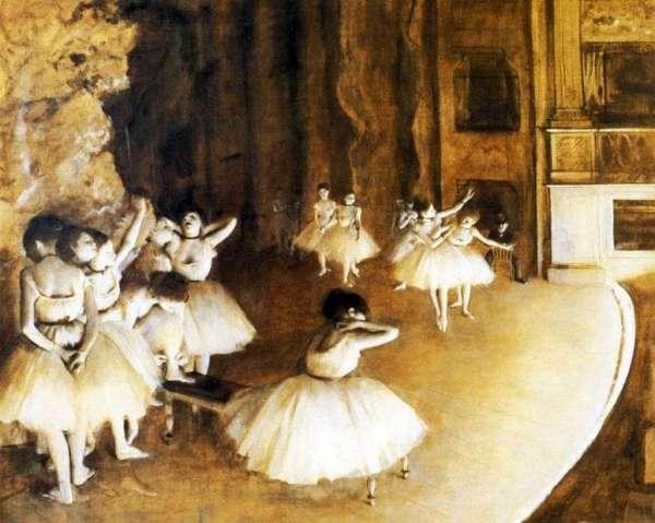 Описание картины «Репетиция балета на сцене» — Эдгар Дега ...