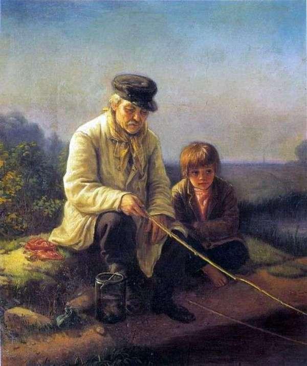Описание картины «Рыбная ловля» — Василий Перов 👍 - Перов ...