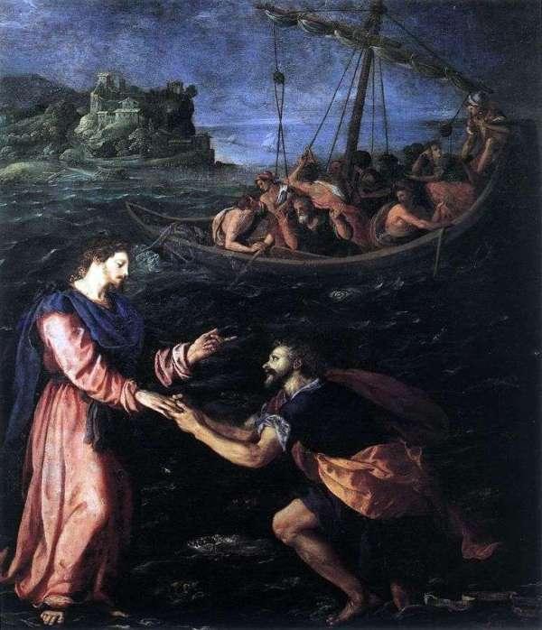 Описание картины «Святой Петр, идущий по воде ...