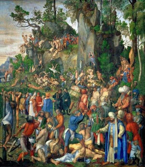 Описание картины «Умерщвление десяти тысяч христиан ...