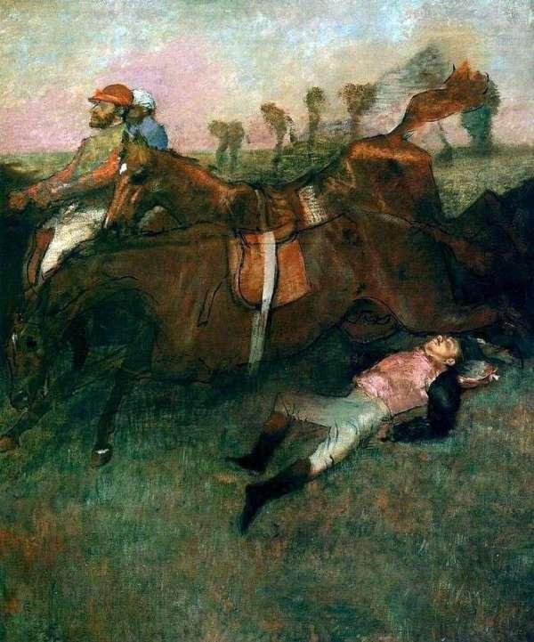 Описание картины «Упавший жокей» — Эдгар ДегаШедевры ...