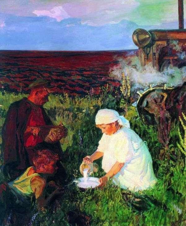 Описание картины «Ужин трактористов» — Аркадий ...