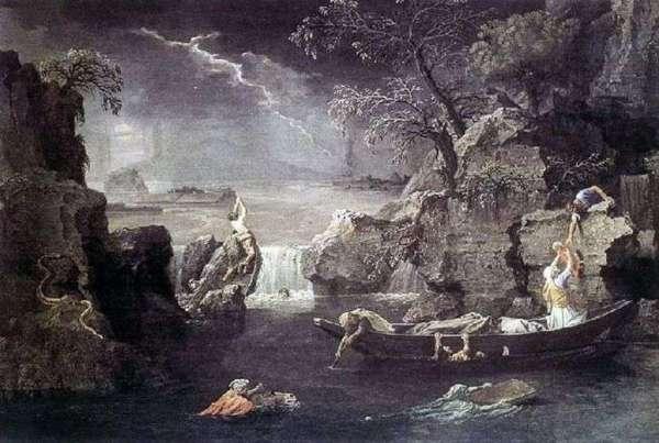 Описание картины «Зима. Всемирный потоп» — Никола ...