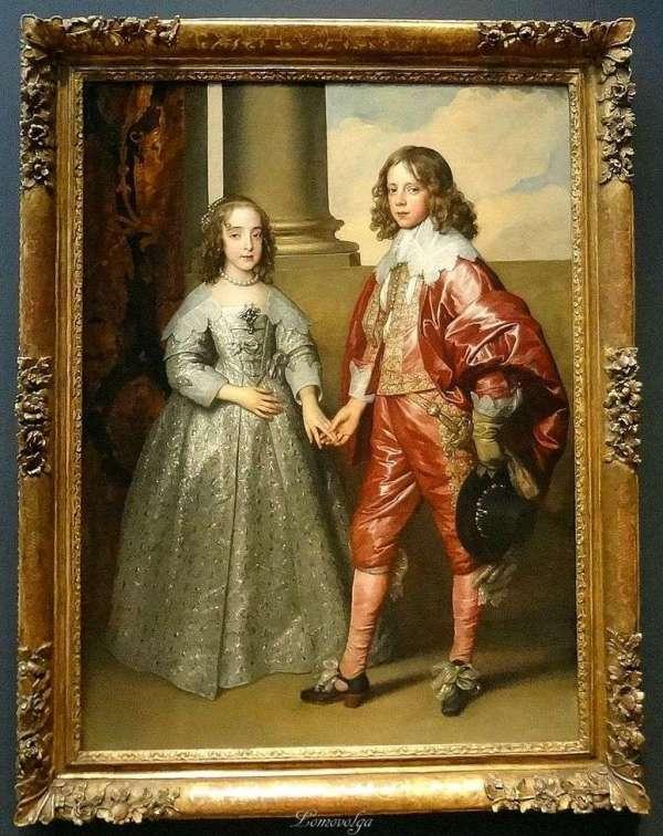 Портрет Вильгельма Оранского с его невестой Марией Стюарт ...