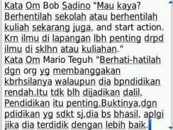 Bob Sadino atau Mario Teguh?