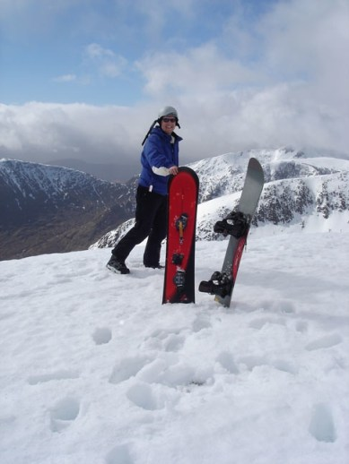 Niels at the summit of Meall a' Bhùiridh