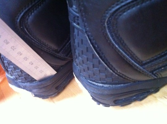 Vans Cirro 2011. Heelcup separating from leather uppers on both boots.