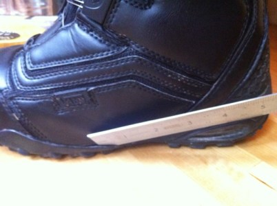 27a4f9c733 Vans Cirro 2011. Left boot showing where sole is parting from leather upper.