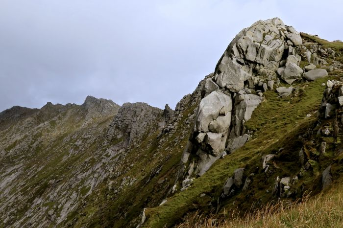 Rocky outcrop on North Goatfell