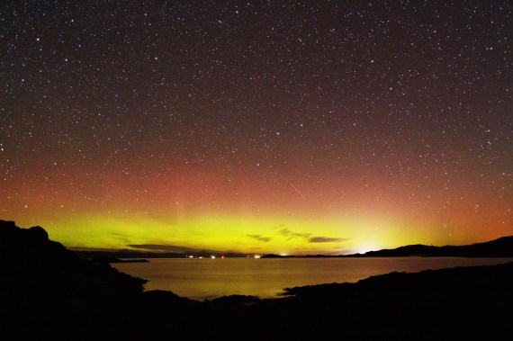 Aurora over Mallaig