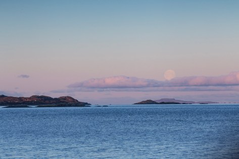 The moon over Isle of Muck