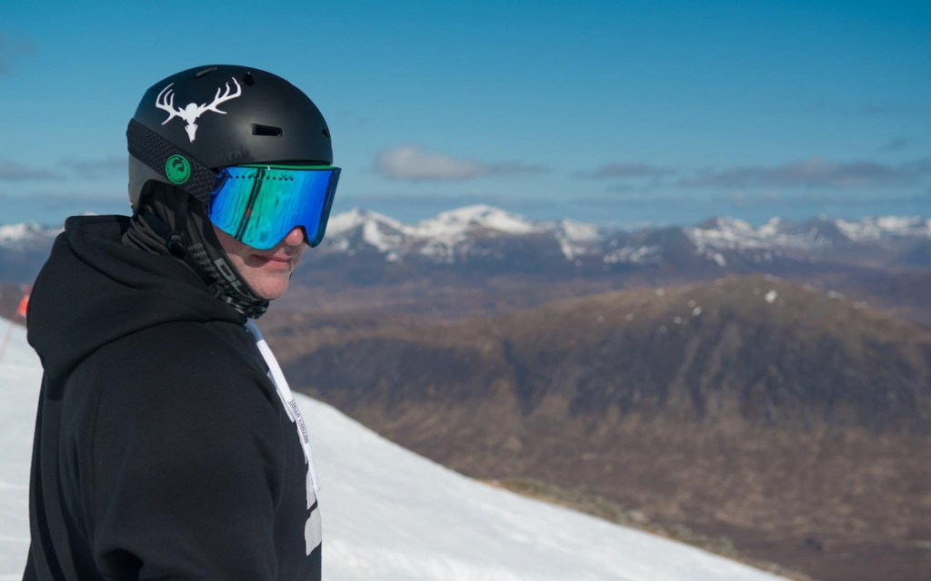 Yours truly  - Photo Credit Stevie McKenna / Ski Scotland