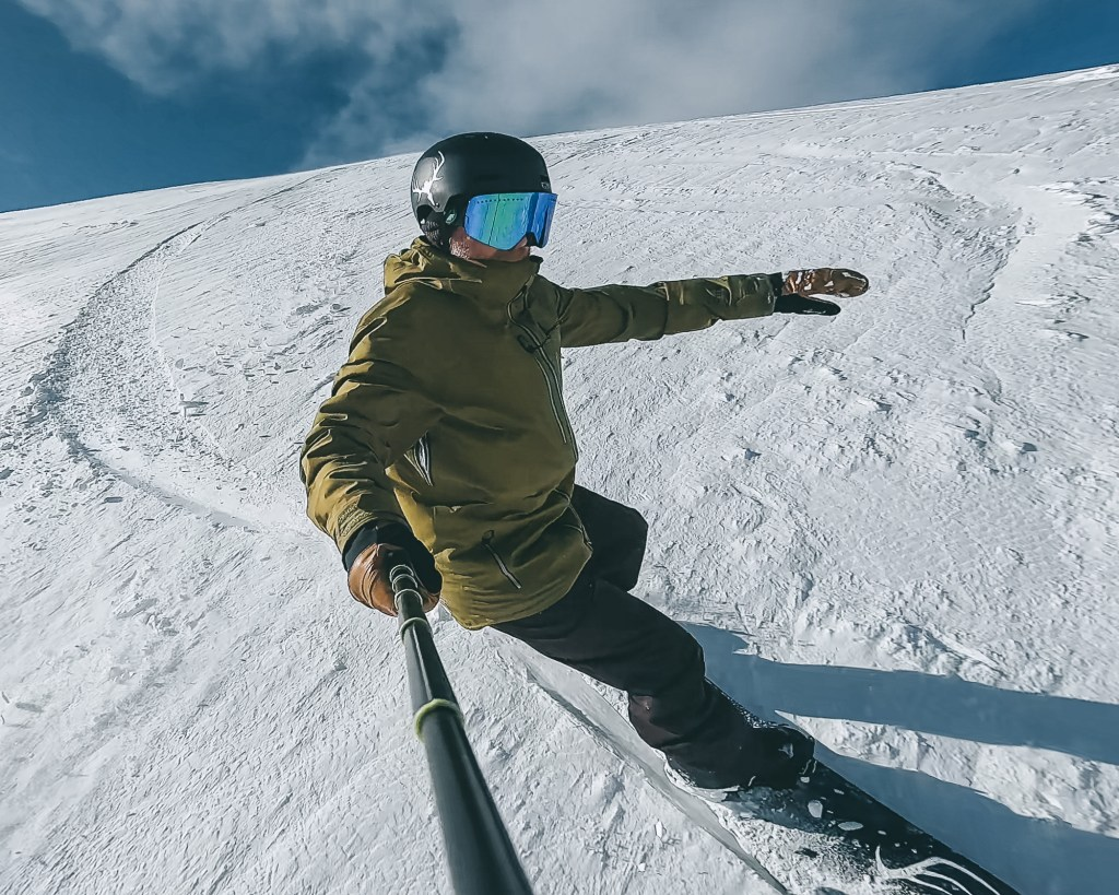 GoPro photo of snowboarder