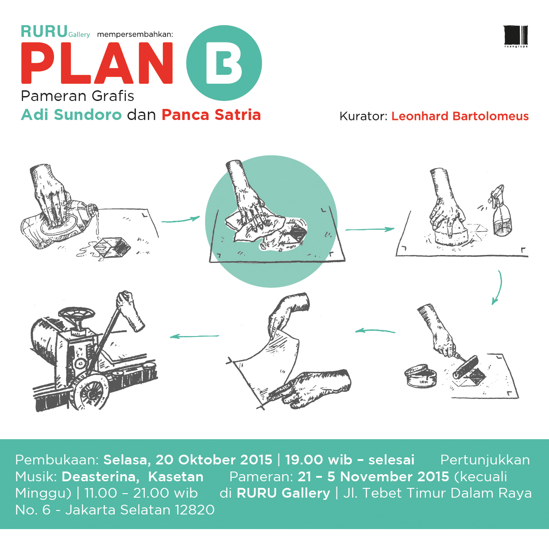 PLAN B – Pameran Grafis Adi Sundoro dan Panca Satria