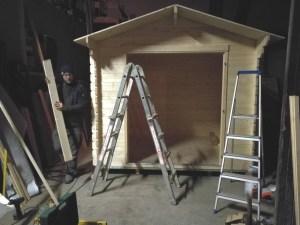 Das Häusl in der Aufbauphase
