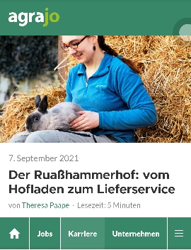 Jungbäuerin Fee erzählt im Interview mit agrajo wie es am Ruaßhammerhof zu Hofladen, Lieferservice und Onlineshop kam.