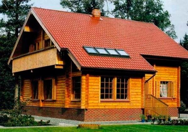 Двухэтажные деревянные дома и бани из бруса с верандой ...