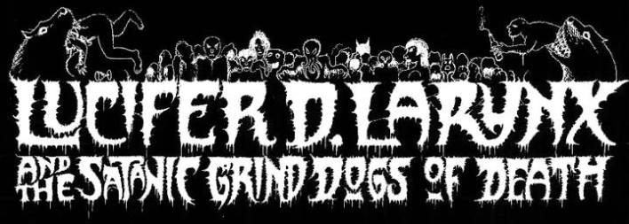 Lucifer D. Larynx and the Satanic grind Dogs of Death logo