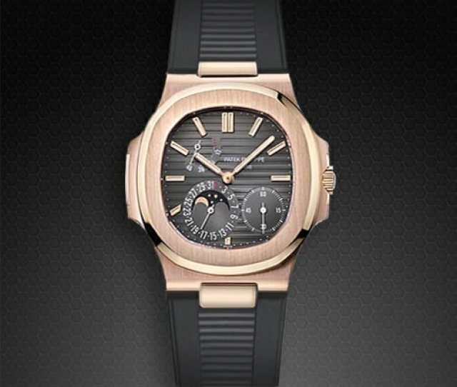 Charcoal Gray Rubber Strap For Patek Philippe 5712