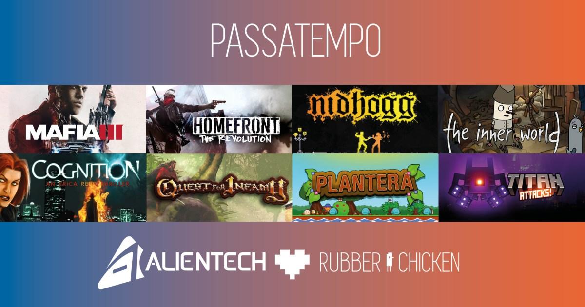[Passatempo] AlienTech + Rubber Chicken = 8 jogos