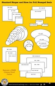 Standard Shapes for Foil Stamped SEals
