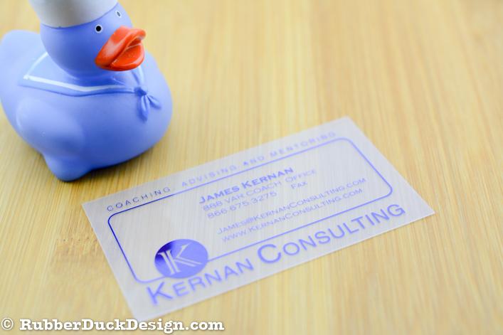 Fog Translucent Plastic Business Cards