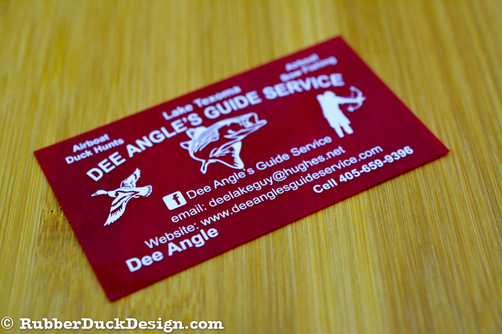 Red Translucent Plastic Business Cards