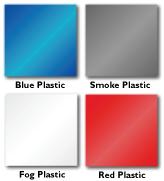blue, smoke, fog, and red translucent plastic