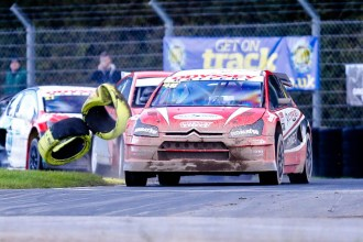 British Rallycross legend Pat Doran proving he is still a force to be reckoned with