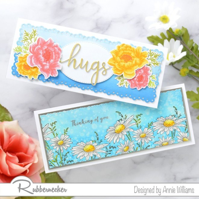 Rubbernecker Blog Slimline-Floral-Cards-Two-Ways-by-Annie-Williams-for-Rubbernecker-Featured-Both