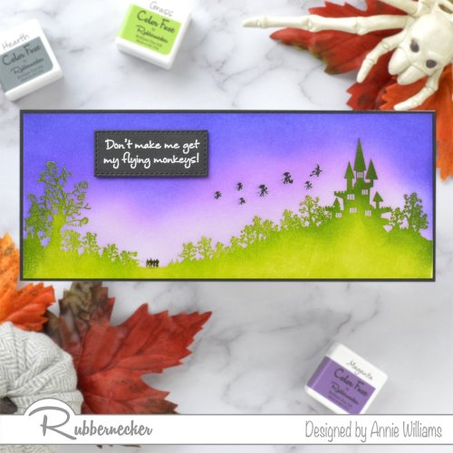 Rubbernecker Blog Slimline-Flying-Monkeys-Card-by-Annie-Williams-for-Rubbernecker-Featured-500x500