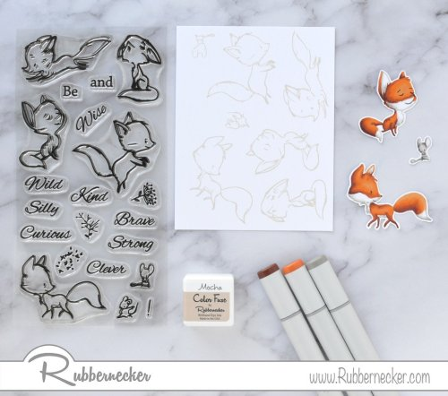 Rubbernecker Blog Curious-Foxes-Slimline-Card-by-Annie-Williams-for-Rubbernecker-Coloring-500x442