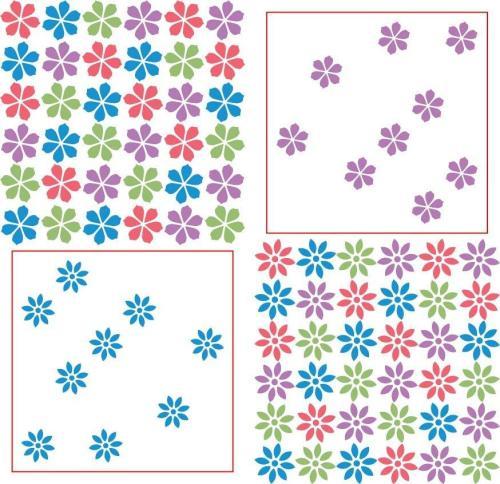 Rubbernecker Blog 4117-repeating-flower-stencil-2-part-color-500x484