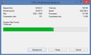 7-Zip Compression Dialog