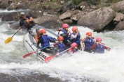 White water rafting category 4-5 rapids,West Virginia, US