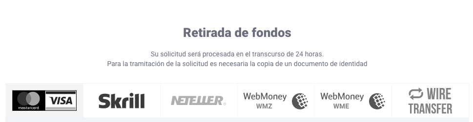 IQ Option retirar dinero