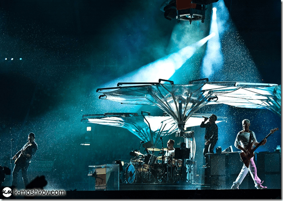 Фото Константина Мошкова с концерта U2 в Лужниках